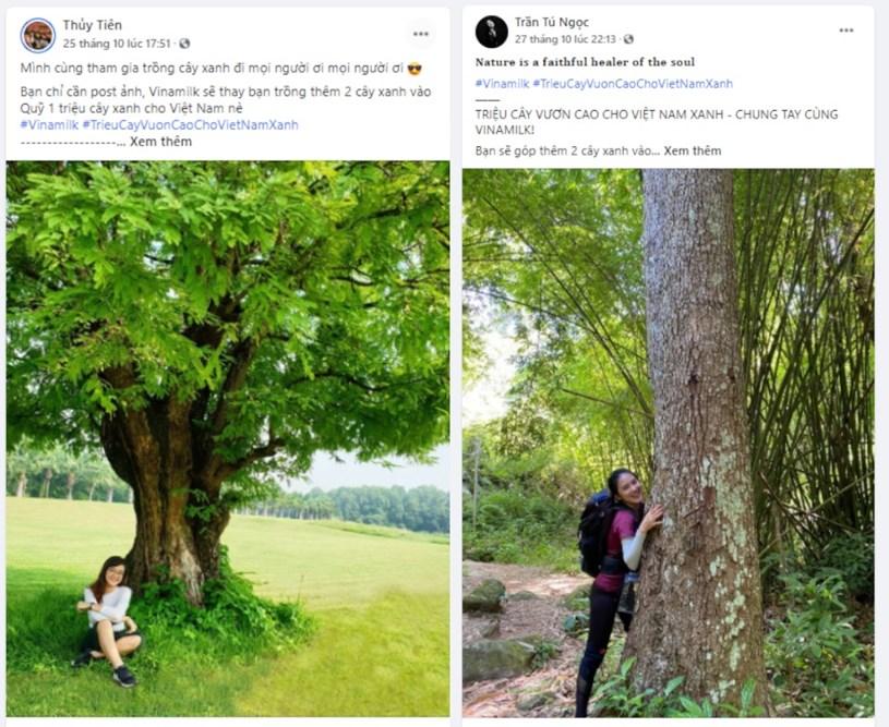 """Mỗi ngày một post, Anh Nguyen kể về những cây xanh xung quanh mình hoặc do chính tay mình trồng cùng những thông điệp tích cực như """"Gieo hạt xanh - Gieo hạnh phúc"""" (Facebook Anh Nguyen)"""