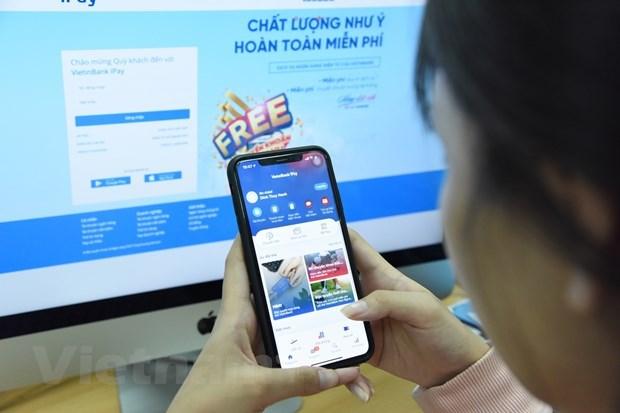Nhiều khách hàng có thói quen mua sắm online. (Ảnh: CTV/Vietnam+)