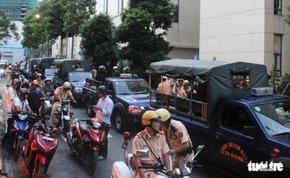 Các Tổ công tác 363 Công an TP. Hồ Chí Minh ra quân làm nhiệm vụ/ Ảnh: SƠN BÌNH/TTO
