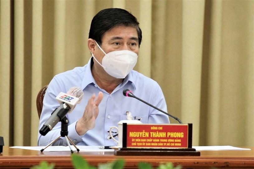 Chủ tịch UBND TP Nguyễn Thành Phong thông tin nhanh về tình hình dịch COVID-19 trên địa bàn TP