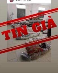 Tin giả về hình ảnh xác chết do covid-19 tại Thành phố Hồ Chí Minh