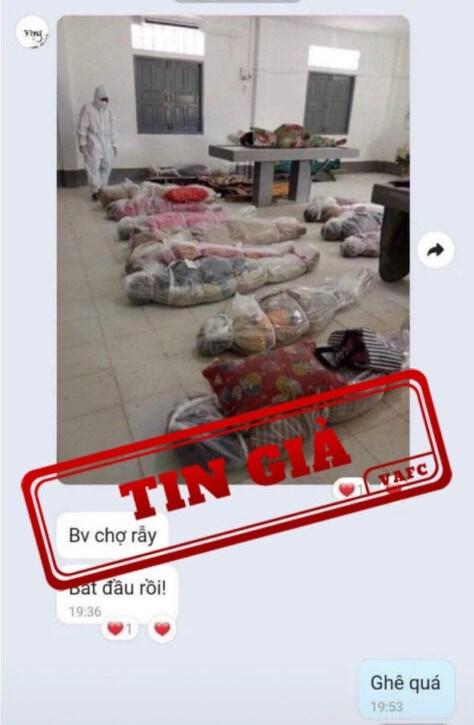 Tin giả về hình ảnh xác chết do covid-19 tại Thành phố Hồ Chí Minh - Ảnh 1