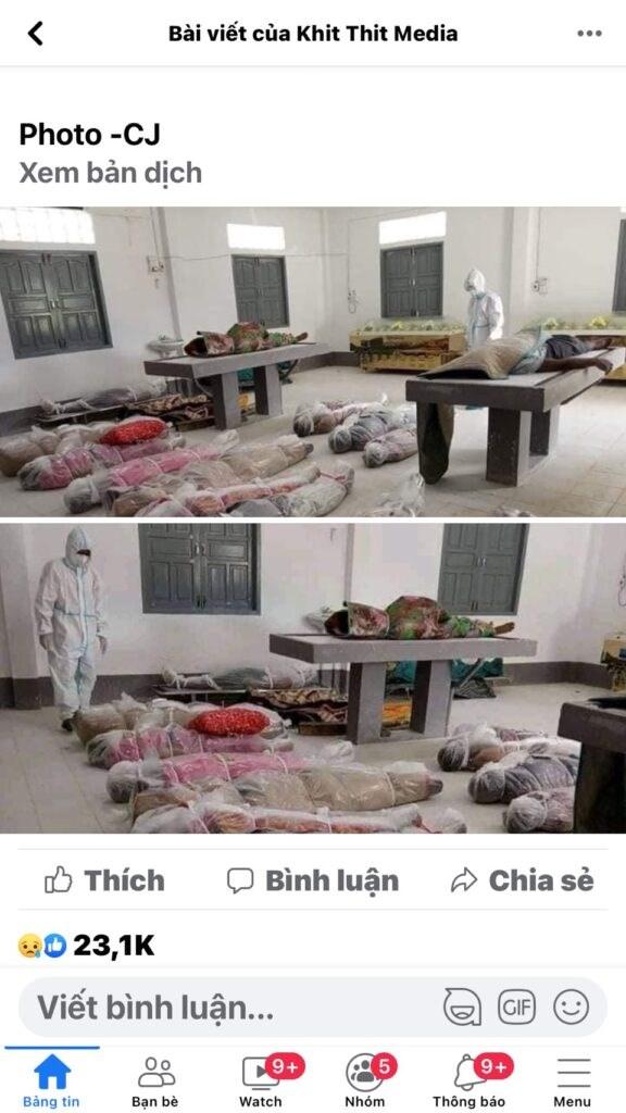 Tin giả về hình ảnh xác chết do covid-19 tại Thành phố Hồ Chí Minh - Ảnh 3