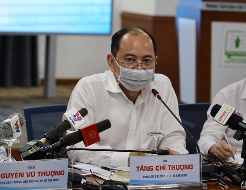 Bác sĩ Tăng Chí Thượng - Phó GĐ Sở Y tế TP. Hồ Chí Minh phát biểu trong họp báo