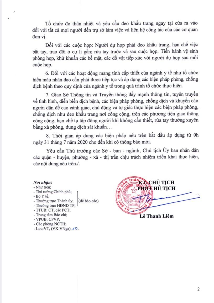 TP. Hồ Chí Minh áp dụng nhiều biện pháp hạn chế tập trung đông người  - Ảnh 2