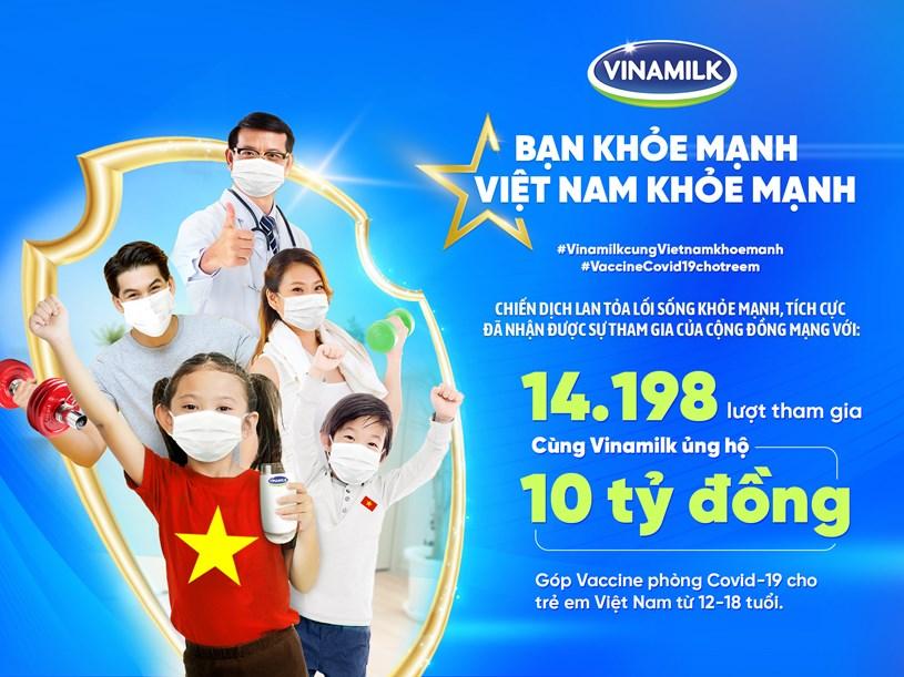 """Kết quả của hoạt động """"Lan tỏa lối sống khỏe mạnh, tích cực - Cùng góp 10 tỷ đồng mua Vaccine phòng COVID-19 cho trẻ em Việt Nam"""""""