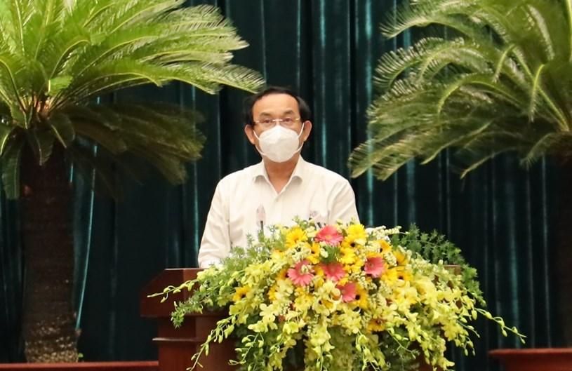 Bí thư Thành ủy TPHCM Nguyễn Văn Nên kết luận tại hội nghị. Ảnh: Huyền Mai