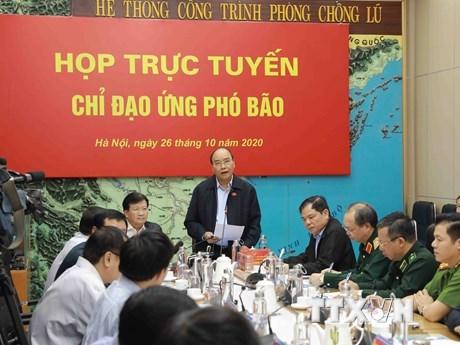 Thủ tướng Chính phủ Nguyễn Xuân Phúc phát biểu chỉ đạo. (Ảnh: Vũ Sinh/TTXVN)