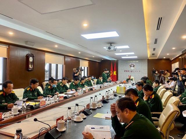 Ban chỉ đạo phòng chống dịch Covid-19 Bộ Quốc phòng tổ chức hội nghị toàn quân về công tác phòng chống dịch bệnh. Ảnh: VGP