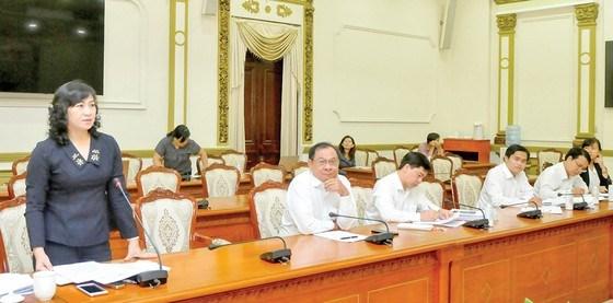 Phó Chủ tịch HĐND TPHCM Phan Thị Thắng phát biểu tại buổi giám sát. Ảnh: CAO THĂNG
