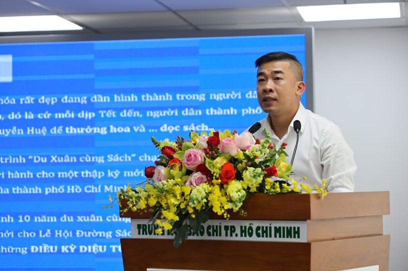 Đại diện Sở Thông tin và Truyền thông TP. Hồ Chí Minh thông tin về Lễ hội Đường Sách Tết Canh Tý 2020