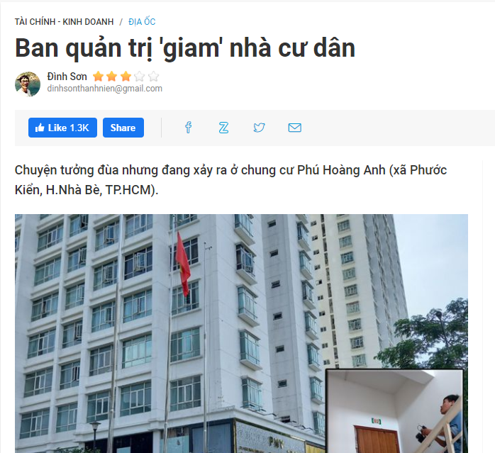 Huyện Nhà Bè phản hồi thông tin liên quan đến Cao ốc Phú Hoàng Anh - Ảnh 1