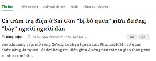 Bài viết trên báo Dân Việt. Ảnh chụp màn hình