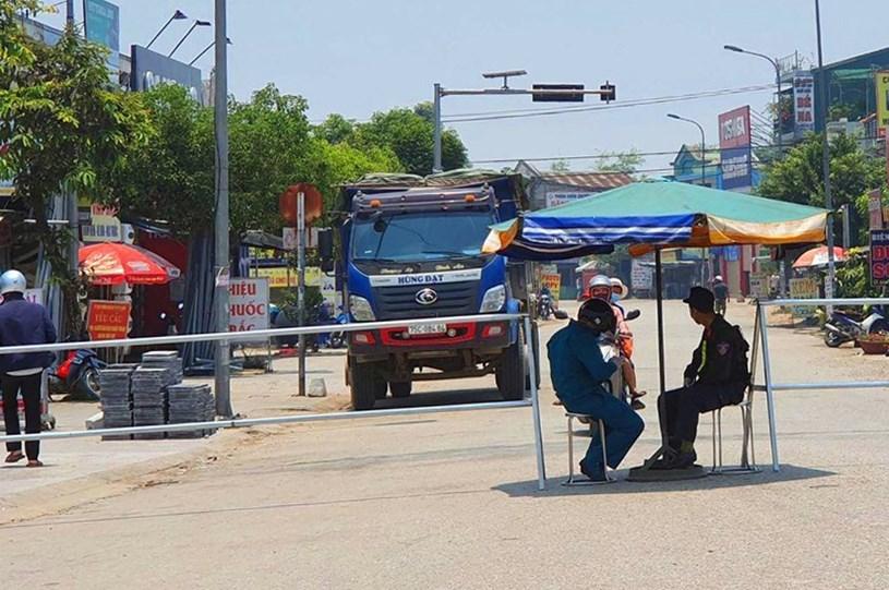 Một chốt kiểm tra y tế ở Thừa Thiên - Huế. Ảnh:Điền Quang