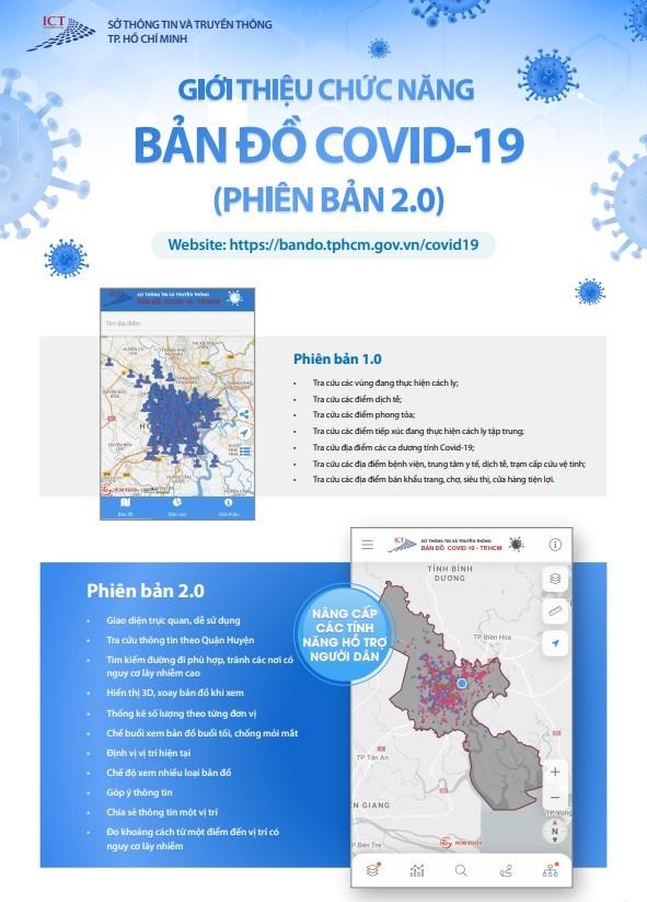 [Infographic] Chức năng mới của Bản đồ COVID-19 phiên bản 2.0 - Ảnh 1