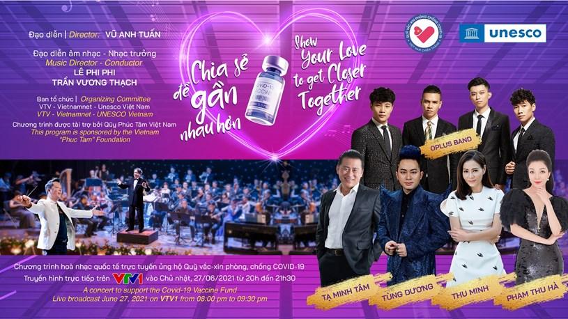 Đêm hòa nhạc giao hưởng trực tuyến ủng hộ Quỹ vaccine COVID-19