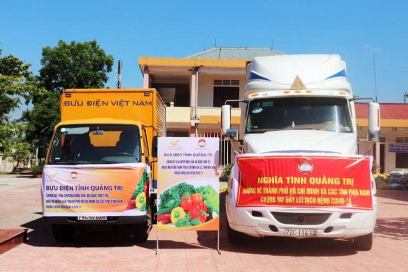 Nguồn rau, củ, quả tươi do các nhà cung cấp uy tín tại các địa phương sẽ nhanh chóng chuyển về TPHCM bằng các xe chuyên ngành của Bưu điện Việt Nam. Ảnh: VGP/Đàm Minh