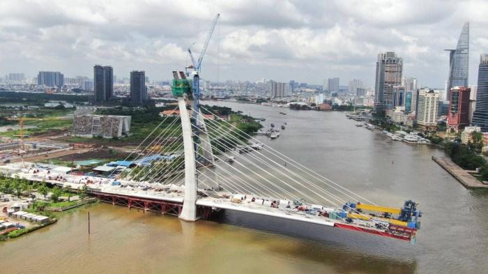Cầu Thủ Thiêm 2 sẽ hợp long vào dịp 2/9 sắp tới