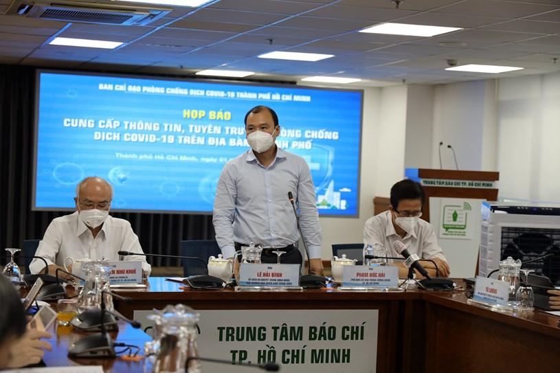 Phó Trưởng Ban Tuyên giáo Trung ương Lê Hải Bình phát biểu tại họp báo. Ảnh: Linh Nhi