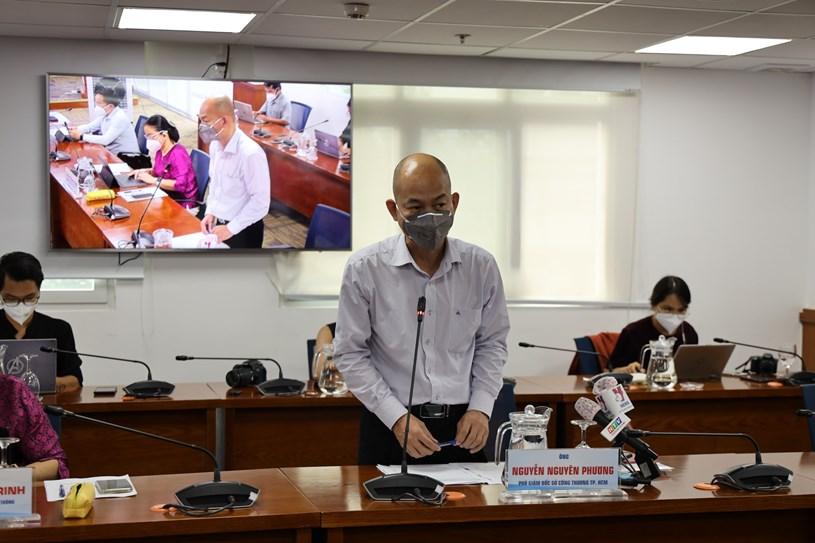 """Phó Giám đốc Sở Công Thương Nguyễn Nguyên Phương cho biết tình hình """"đi chợ hộ"""" đã được giảm tải. Ảnh: Linh Nhi"""