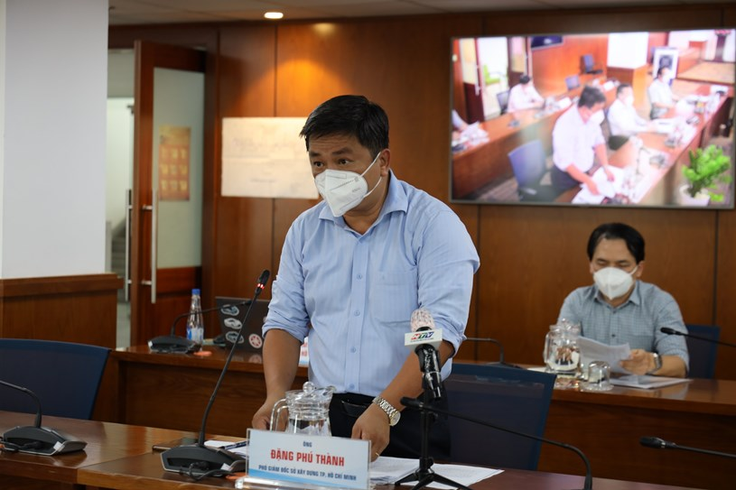 Phó Giám đốc Sở Xây dựng Đặng Phú Thành thông tin về việc trang bị hệ thống oxy cho công tác điều trị F0 tại TPHCM