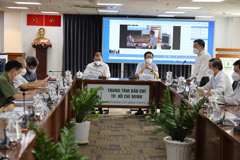 Toàn cảnh họp báo chiều ngày 12/9. Ảnh: Khang Minh