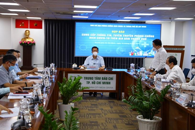 Toàn cảnh họp báo chiều ngày 16/9. Ảnh: Khang Minh