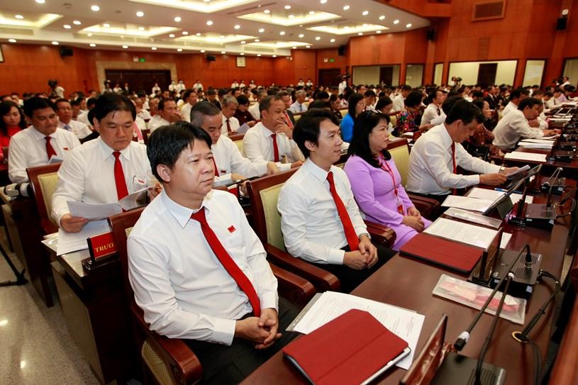 Hình ảnh ngày làm việc thứ ba của Đại hội đại biểu Đảng bộ TPHCM khóa XI