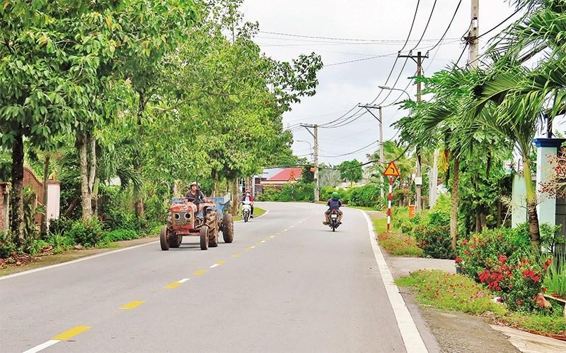 Một góc đường Cây Trôm, thôn Mỹ Khánh, xã Thái Mỹ, huyện Củ Chi. Ảnh: Báo Nhân dân