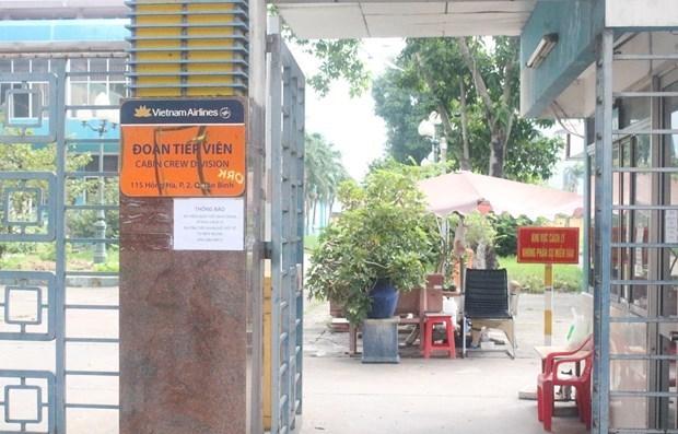 Khu cách ly đoàn tiếp viên Vietnam Airlines đã bị yêu cầu ngưng hoạt động sau khi 1 tiếp viên bị lây nhiễm COVID-19 từ đây. (Ảnh: Đinh Hằng/TTXVN)