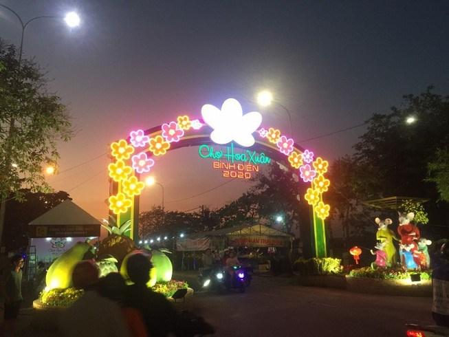 Năm nay, Công ty chợ Bình Điền tiếp tục miễn phí toàn bộ phí thuê ô vựa cho bà con tham gia chợ hoa.