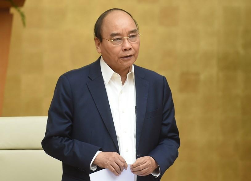 Thủ tướng Chính phủ Nguyễn Xuân Phúc phát biểu khai mạc cuộc họp. Ảnh: VGP