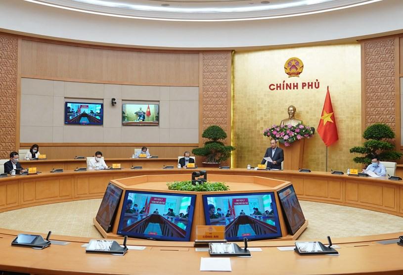 Thủ tướng họp trực tuyến kiểm tra công tác phòng chống dịch COVID-19 tại 5 thành phố