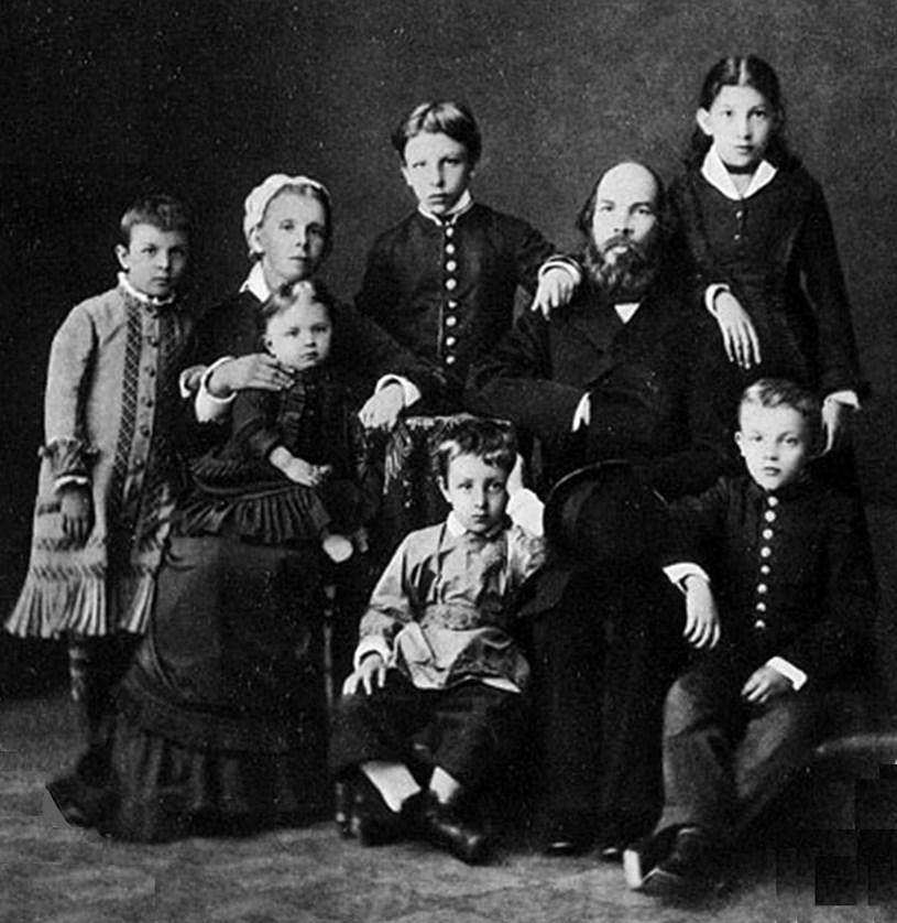 Gia đình V.I.Lenin. (Ảnh: Tư liệu/TTXVN)