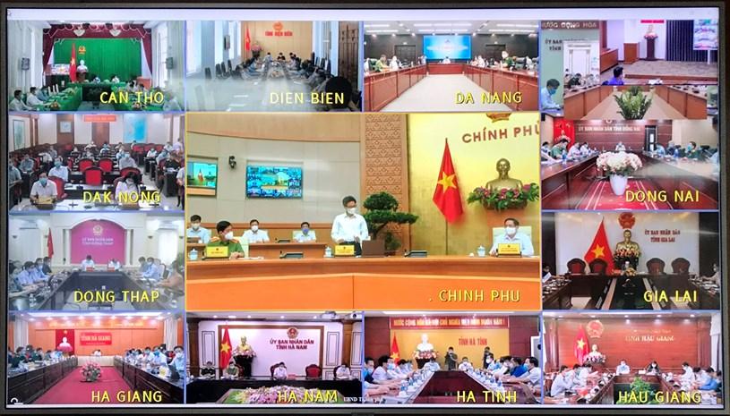 Hình ảnh cuộc họp trực tuyến chiều ngày 7/5/2021. Ảnh: Vân Anh