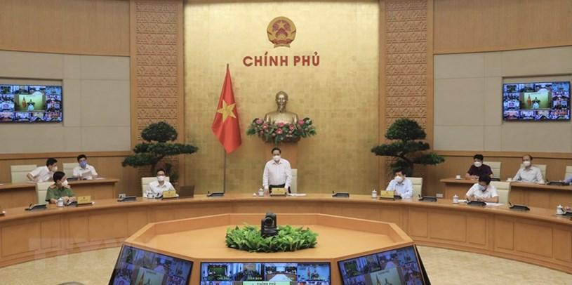 Thủ tướng Chính phủ Phạm Minh Chính chủ trì cuộc họp. Ảnh: Vietnamplus