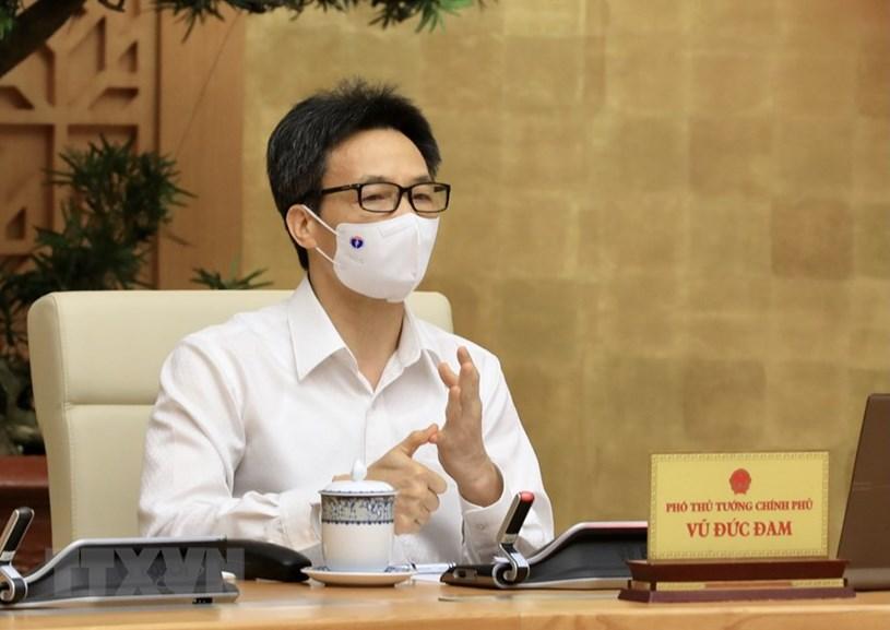 Phó Thủ tướng Chính phủ Vũ Đức Đam phát biểu tại cuộc họp. Ảnh: Vietnamplus