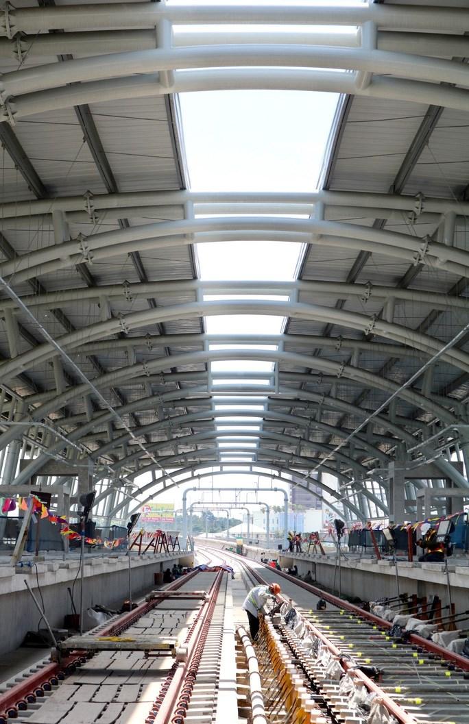 Toàn dự án Metro số 1 hiện đạt 72,59% và theo kế hoạch sẽ nâng lên 85% đến hết năm nay