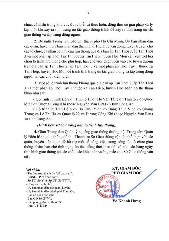 Công văn số 6347/SGTVT-KT ngày 20/6/2021 của Sở GTVT TPHCM