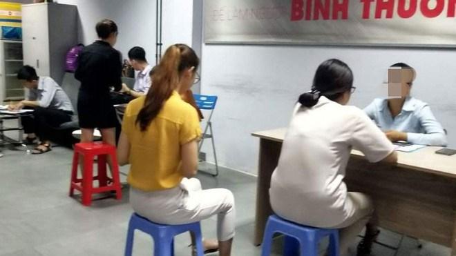 """Sinh viên được phỏng vấn tại trụ sở văn phòng """"team khởi nghiệp 360"""" số 49 đường số 12 (P.Hiệp Bình Chánh, Q.Thủ Đức)"""