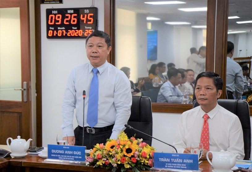 Phó Chủ tịch UBND TPHCM Dương Anh Đức phát biểu tại buổi Tọa đàm