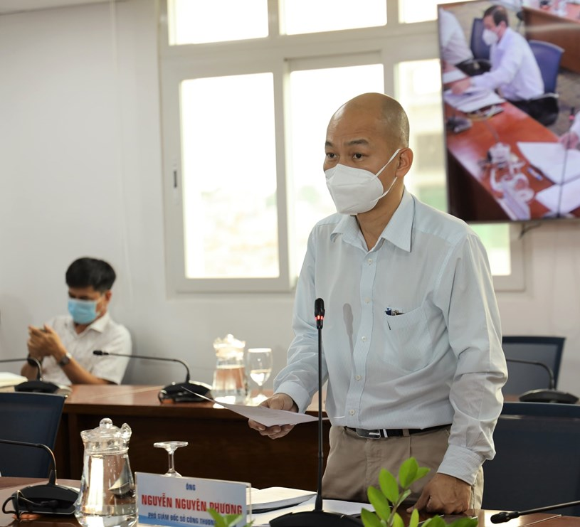 Phó Giám đốc Sở Công Thương Nguyễn Nguyên Phương trao đổi với báo chí về cung ứng hàng hóa