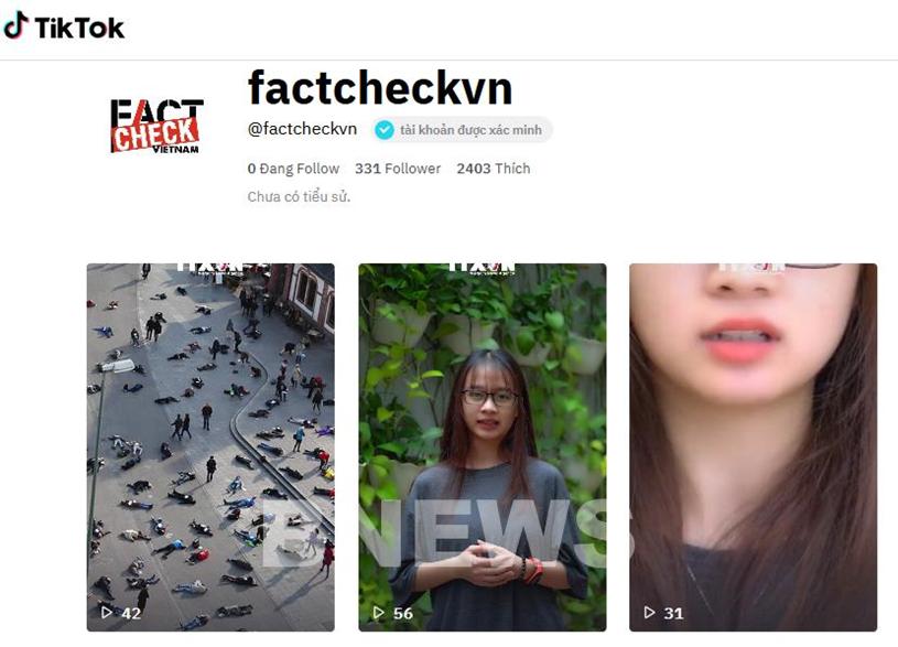 Thông tấn xã Việt Nam ra mắt kênh TikTok chống tin giả