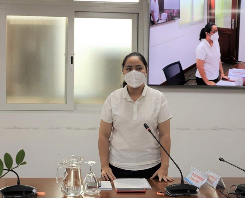 Phó Chủ tịch Thường trực Hội Liên hiệp Thanh niên Việt Nam TP Trịnh Thị Hiền Trân