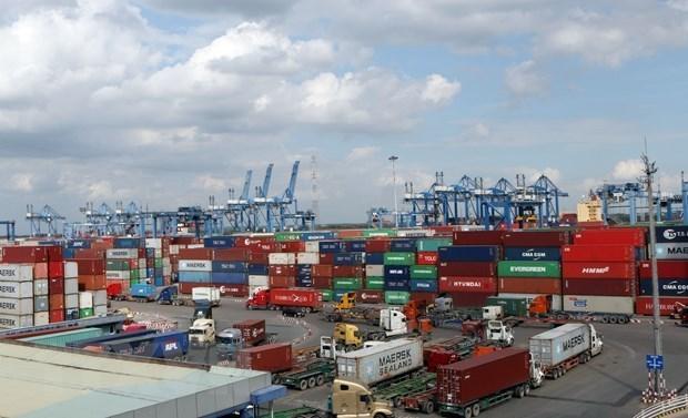 Quang cảnh cảng Cát Lái,Thành phố Hồ Chí Minh. (Ảnh: Tiến Lực/TTXVN)