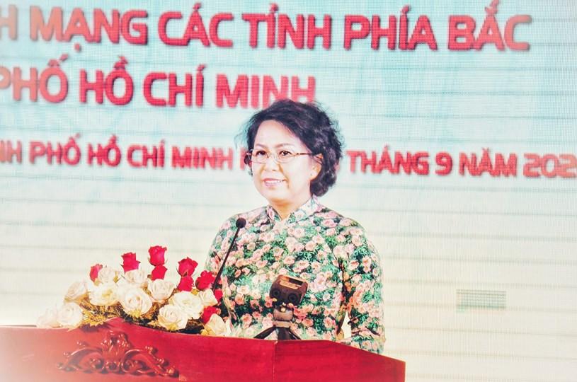 Chủ tịch UBMTTQ Việt Nam TPHCM Tô Thị Bích Châu nhấn mạnh TPHCM luôn chú trọng phát huy sức mạnh đại đoàn kết toàn dân tộc. Ảnh: Long Hồ