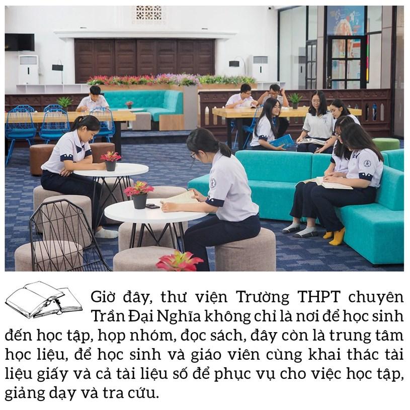 Đến thăm thư viện 5 sao Trường THPT chuyên Trần Đại Nghĩa - Ảnh 5