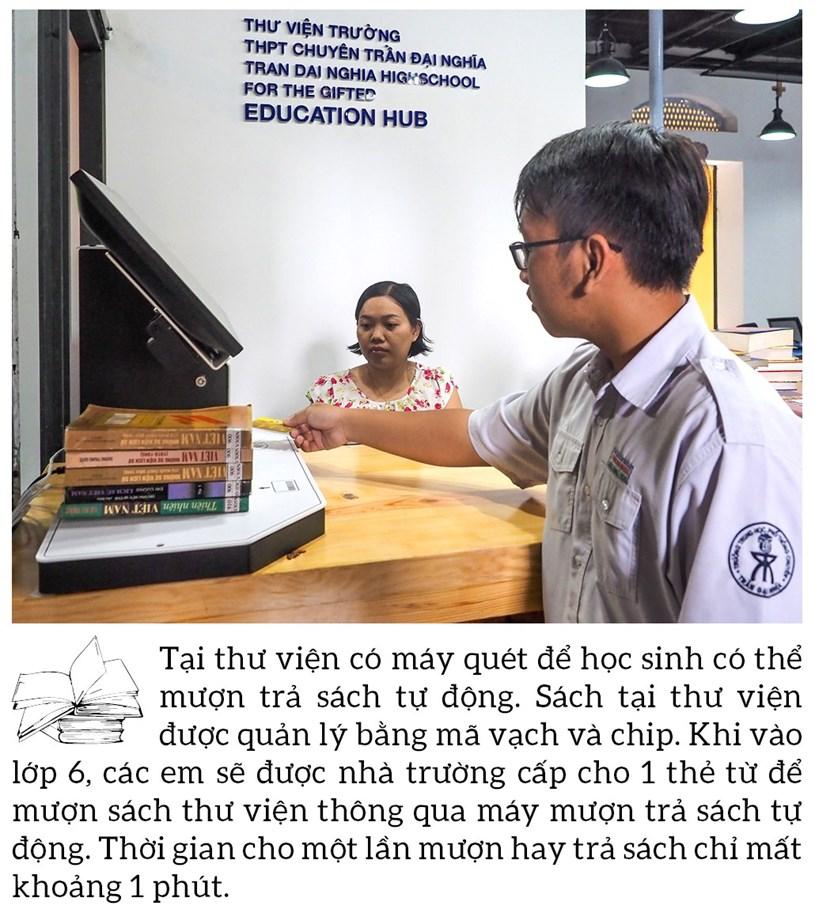 Đến thăm thư viện 5 sao Trường THPT chuyên Trần Đại Nghĩa - Ảnh 8