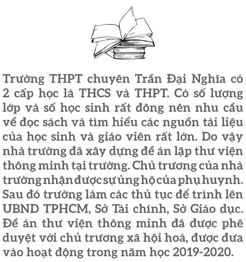 Đến thăm thư viện 5 sao Trường THPT chuyên Trần Đại Nghĩa - Ảnh 2