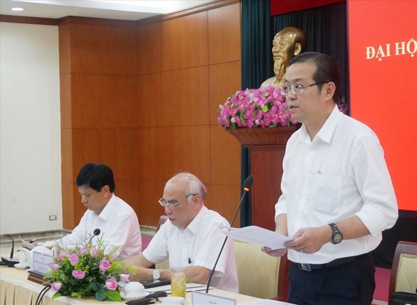 Thành ủy viên, Phó Trưởng Ban Thường trực Ban Tuyên giáo Thành ủy Lê Văn Minh trao đổi với phóng viên. Ảnh: Nguyễn Nam